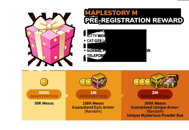 MAPLESTORY M REWARD DESCRIPTION